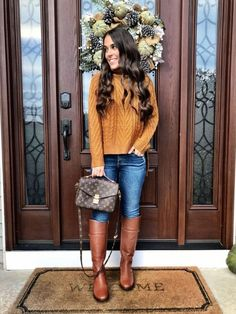 Casual Fall Outfits, Fall Winter Outfits, Outfits For Teens, Christmas Outfits, Rock Outfits, Party Outfits, Edgy Outfits, Christmas Sweaters, Look Fashion