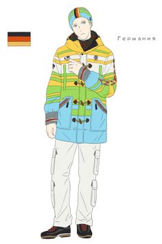 Ludwig in the German athletes' uniform from the Opening Ceremonies of the 2014 Sochi Winter Olympic Games - Art by toxicell.tumblr.com