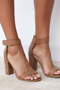 Your go-to heel is here! The Pia Heels in Tan feature simple, thick strap detailing across the toes and around the ankle. Super comfy and easy to wear. By Billini.