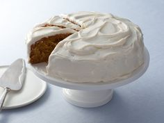 Alton Brown's Carrot Cake : Top this dense carrot cake with homemade cream cheese frosting