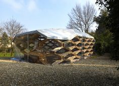 Avatar Architettura's Recycled Pallet Pavilion Pops up in Italy  #pods #shipping pallet #sustainable