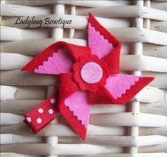 Idea - pinwheel felt clip