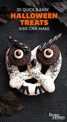 Haunted Hooting Owl Pretzels- def doing this with kids since its made of all their favorite things (except black licorice which will be for me!)