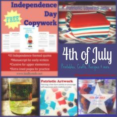 Check out this round-up of 4th of July {free} printables, crafts, yummy recipes & MORE - Blessed Beyond a Doubt