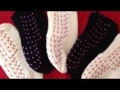 Kalpli Boncuk İşlemeli Patik Örneği : Bead bordado Sapatinho Exemplo - YouTube Knitting Videos, Crochet Shoes, Baby Boots, Crochet Patterns For Beginners, Baby Knitting, Diy And Crafts, Projects To Try, Booty, Beads
