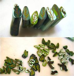 Simple Inspirations by Sandy: Variegated leaf cane tutorial - week 19 of canes.  Great tutorials!