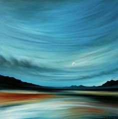 "Saatchi Art Artist Laura Blue Palmer; Painting, ""Aqua Drift"" #art"