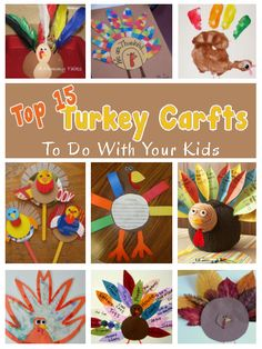 diy home sweet home: Top 15 Turkey Crafts To Do With Your Kids