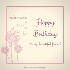 Happy Birthday wish on image for friend.