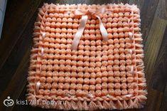 Cómo hacer una Alfombra de pompones - paso a paso y en video   Crochet y Dos agujas - Patrones de tejido