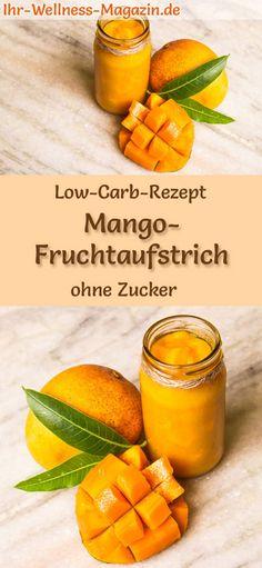 Low-Carb-Rezept für Mango-Marmelade ohne Zucker: Kohlenhydratarmer Fruchtaufstrich - gesund, kalorienreduziert, zuckerfrei, mit viel Frucht ... #lowcarb #marmelade #zuckerfrei #mango