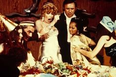 """""""The Poseidon Adventure"""" movie still, L to R: Ernest Borgnine, Stella Stevens, Gene Hackman. A rogue tidal wave hits the ocean liner one minute after midnight. Happy New Year! Romy Schneider, Film Catastrophe, The Poseidon Adventure, Stella Stevens, Ernest Borgnine, Shelley Winters, Disaster Movie, Movie Shots, The Great Escape"""