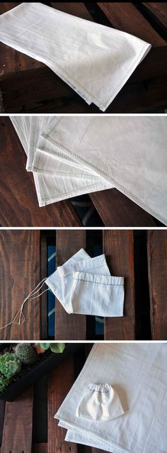 DIY tea towels and gift bags