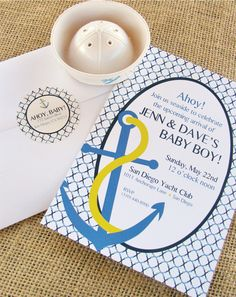 modern preppy nautical invitation by @wh hostess