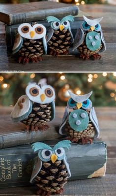 This is so cute anytime. Pinecone Owls - 20 Magical DIY Christmas Home Decorations You'll Want Right Now This is so cute anytime. Pinecone Owls - 20 Magical DIY Christmas Home Decorations You'll Want Right Now Diy Christmas Ornaments, Diy Christmas Gifts, Holiday Crafts, Christmas Ideas, Ornaments Ideas, Pinecone Christmas Crafts, Merry Christmas, Diy Christmas Home Decor, Christmas 2019