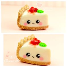 Cheesecake Kawaii Charm Miniature Food Jewelry Polymer Clay Handmade by Sweet Clay Creations