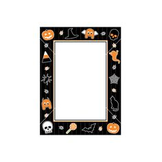 Halloween frame vector ❤ liked on Polyvore featuring halloween, frame, borders and picture frame