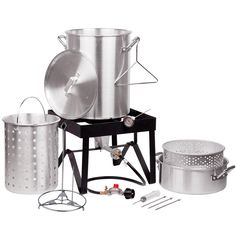 Backyard Pro 30 Quart Deluxe Turkey Fryer Kit / Steamer Kit  Good for outdoor catering events