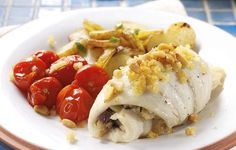 elegant fish dinners | Crab-Stuffed Flounder - This elegant dinner of fish stuffed with ...
