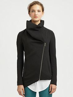 <3 this helmut lang asymmetrical jacket