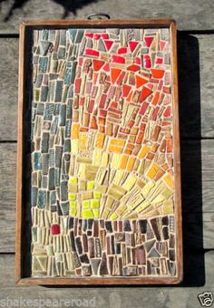 Original Hilma Johnson Mosaic of an Abstract Sunrise/Sunset '60's-'70's