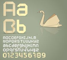 Free vector font: Origami