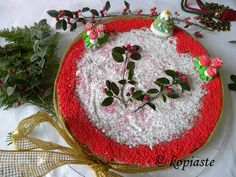 Vassilopita is a traditional Greek cake or bread with a coin inside, named after St. Basil, which is made for New Year's Day. Christmas Baking, Christmas Fun, Christmas Bulbs, Greek Desserts, Greek Recipes, Greek Cake, Greek Cooking, Toasted Almonds, No Bake Treats