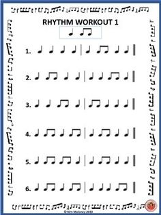MUSIC Worksheet: Music Rhythm Workout - Free Download