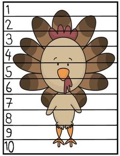 "Thanksgiving ""Count By"" Puzzles (1's, 2's, 5's and 10's)"