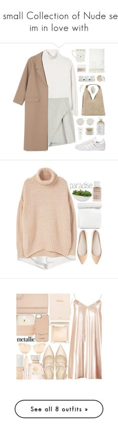 """A small Collection of Nude sets im in love with"" by designbecky ❤ liked on Polyvore featuring adidas, Rebecca Taylor, INZI, Three Hands, Monki, NARS Cosmetics, Threshold, Koh Gen Do, Elie Saab and Ouai"