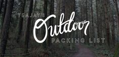 A great packing list for outdoor adventures, without the camping!! #travel #outdoor #packing #packinglist #adventure