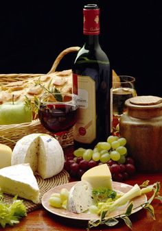 wine, cheese, grapes!