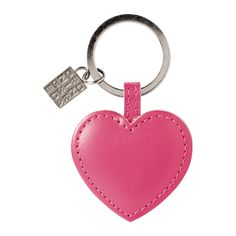 Spring Must-have: HEART Leather Key ring in Pink