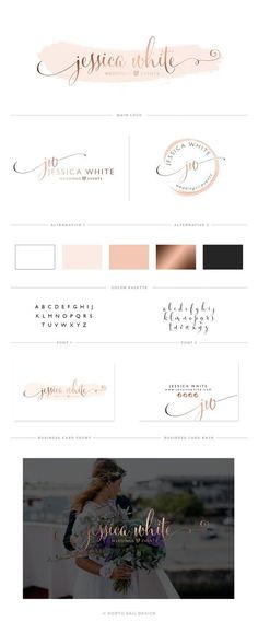 Jessica White Premade Logo Boutique Logo by NorthSailDesign