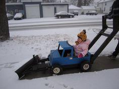 Ride in plow truck