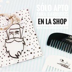 Llavero hipster barba y bigote y peines personalizados para barba y bigote @vagalumedesigns