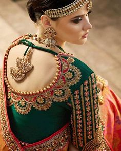 The wedding season is here! Ready to rock the wedding season with the mesmerizing and stylish blouse designs? Not only the bride every girl wants to look at their ethnic best at weddings. Wedding Saree Blouse Designs, Saree Blouse Neck Designs, Fancy Blouse Designs, Indian Blouse Designs, Wedding Sarees, Red Lehenga, Lehenga Choli, Bridal Lehenga, Lehenga Blouse