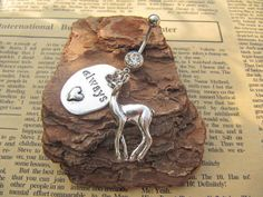 Always Deer Charm Belly Button Ring