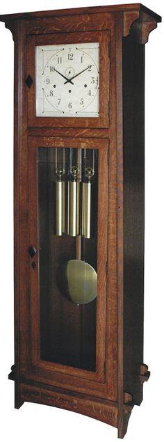 Bungalow Mission Grandfather Clock - Ohio Hardwood Furniture