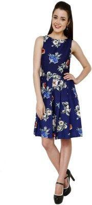 Aardee Women's Gathered Dress - Buy Blue Aardee Women's Gathered Dress Online at Best Prices in India   Flipkart.com