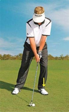 Using the stack and tilt will improve your impact position and get rid of potential bad habits for any begging golfer. Ben Hogan Golf Swing, Golf Aids, Golf Now, Golf Betting, Golf Books, Golf Stance, Golf Practice, Golf Chipping, Golf Instruction