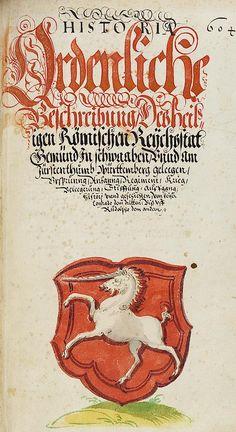 Reichsstadt Gmünd f°193r) -- «Chorographia Württemberg», Wolleber (David), [Schorndorf], 1591 [Universität Tubingen Mh 6,1].