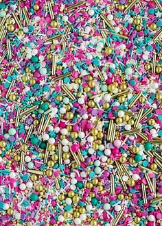 Sweetapolita WANDERLUST Twinkle Sprinkle Medley is a premium, one of a kind mix of some of the most magical pastel sprinkles in the universe: shades of pink/pastel pink/turq