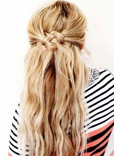Knotted hair style
