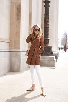fashion-jackson-banana-republic-suede-trench-coat-karen-walker-number-one-sunglasses-white-skinny-jeans-nude-lace-up-flats @bananarepublic #itsbanana