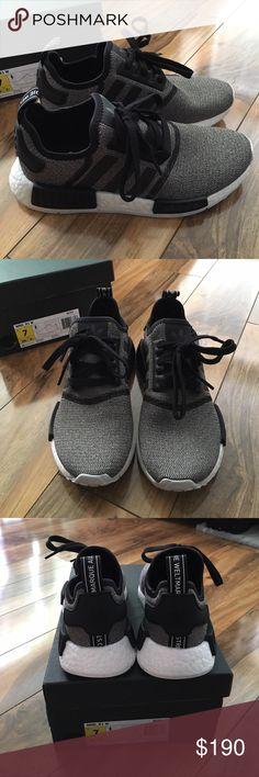 Adidas NMD R1 Primeknit Tri Color Black sz 4 13.5 BB2887 Trico