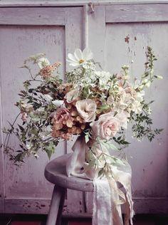 Garden Flowers Botanical Brouhaha Expert Discussion Panel: No. Botanical Wedding, Floral Wedding, Raindrops And Roses, Blush Bouquet, Malva, Wedding Flower Inspiration, Bride Bouquets, Wild Flower Bouquets, Wild Flowers