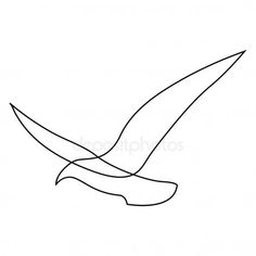 One line gull or seagull flies design silhouette. Hand drawn minimalism style ve , Seagull Tattoo, Canvas Painting Projects, Seagulls Flying, Minimal Drawings, Tiny Tattoos For Girls, Minimalist Drawing, Abstract Line Art, Mountain Paintings, Doodle Designs