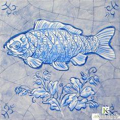 Grote vis Delfts Blauw