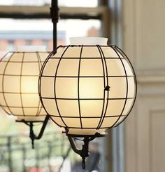 Gas-Style Industrial Light Fixtures.